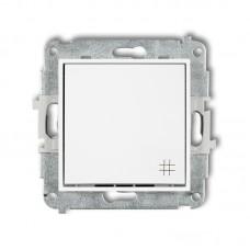 1-клавішний вимикач перехресний Karlik Mini білий MWP-6