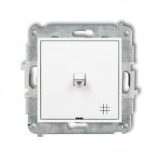 1-клавішний вимикач перехресний Karlik Mini білий MWPUS-6
