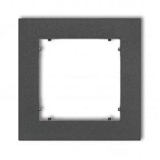 Рамка одинарна універсальна Karlik Mini графітова 11MR-1