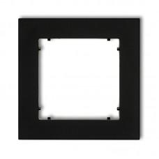 Рамка одинарна універсальна Karlik Mini чорна матова 12MR-1