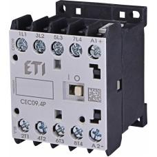 Контактор силовий мініатюрний ETI CEC09.4P 230V AC (9 А; 4kW; AC3) 4NO (4641201)