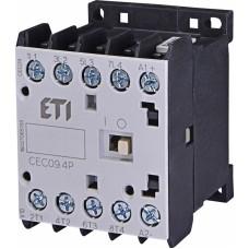 Контактор силовий мініатюрний ETI CEC09.4P 24V DC (9 А; 4kW; AC3) 4NO (4641211)