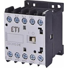 Контактор силовий мініатюрний ETI CEC12.01 230V AC (12 А; 5,5kW; AC3) 3NO+1NC (4641084)