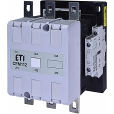 Контактор силовий ETI CEM112.22 400V AC (112 А; 55kW; AC3) 3NO+(2NO+2NC) 4653144