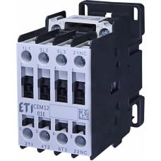 Контактор силовий ETI CEM12.01 230V AC (12 А; 5,5kW; AC3) 3NO+1NC (4643113)