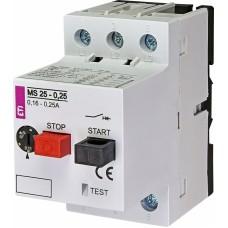 Автоматичний вимикач захисту двигуна MS25-0,25 4600020 ETI