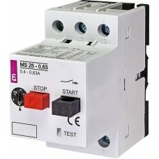 Автоматичний вимикач захисту двигуна MS25-0,63 4600040 ETI