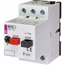 Автоматичний вимикач захисту двигуна MS25-1,0 4600050 ETI