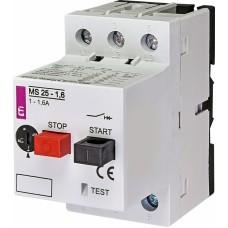 Автоматичний вимикач захисту двигуна MS25-1,6 4600060 ETI
