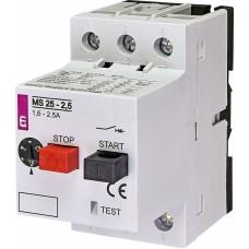 Автоматичний вимикач захисту двигуна MS25-2,5 4600070 ETI
