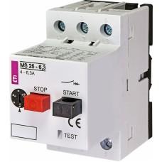 Автоматичний вимикач захисту двигуна MS25-6,3 4600090 ETI