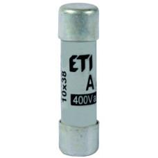 Запобіжник CH 10X38 aM 20A 400V 100kA 2621011 ETI (сповільнений)