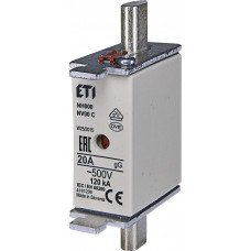 Запобіжник NH000 gG 20A 500V 120kA AC 4181206 ETI (універсальний)
