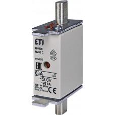 Запобіжник NH000 gG 63A 500V 120kA AC 4181212 ETI (універсальний)