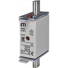 Запобіжник NH000 gG 125A 500V 120kA AC 4181215 ETI (універсальний)