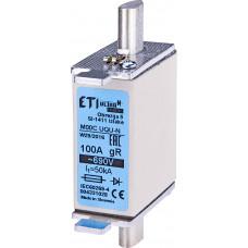 Запобіжник надшвидкий M000UQU-N 100A 690V gR 50/25kA AC/DC 4331028 ETI (NH000)
