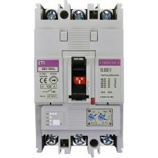 Автоматичний вимикач ETIBREAK EB2 125/3L 100A 3P 25kA рег. зах. (тепл. (0,63-1)*In / ел.магн. (6-12)*In)  4671025 ETI