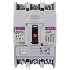 Автоматичний вимикач ETIBREAK EB2 250/3S 200A 3P 36kA рег. зах. (тепл. (0,63-1)*In / ел.магн. (6-13)*In)  4671082 ETI