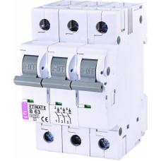 Автоматичний вимикач ETIMAT 6 3p B63, 2115522, ETI