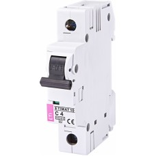 Автоматичний вимикач ETIMAT 10 1P C 4A 10kA 2131710
