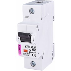 Автоматичний вимикач ETIMAT 10 1p C100, 2131732, ETI