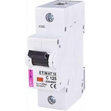 Автоматичний вимикач ETIMAT 10 1p C125, 2131733, ETI