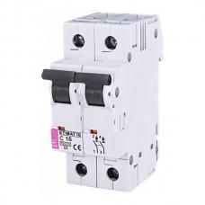 Автоматичний вимикач ETIMAT 10 2p C16, 2133716, ETI
