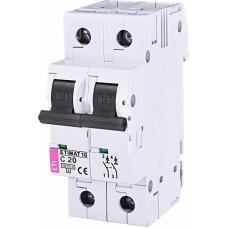 Автоматичний вимикач ETIMAT 10 2p C20, 2133717, ETI