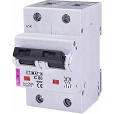Автоматичний вимикач ETIMAT 10 2p C80, 2133731, ETI