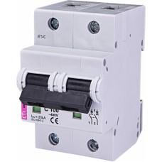 Автоматичний вимикач ETIMAT 10 2p C100, 2133732, ETI
