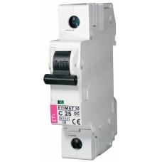 Автоматичний вимикач ETIMAT 10-DC 1p C25 6kA, 2137718, ETI