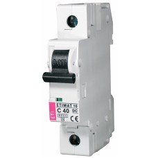 Автоматичний вимикач ETIMAT 10-DC 1p C40 6kA, 2137720, ETI