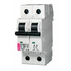 Автоматичний вимикач ETIMAT 10-DC 2p C25 6kA, 2138718, ETI