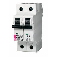 Автоматичний вимикач ETIMAT 10-DC 2p C40 6kA, 2138720, ETI