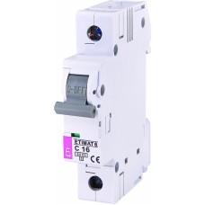 Автоматичний вимикач ETIMAT 6 1p C16, 2141516, ETI