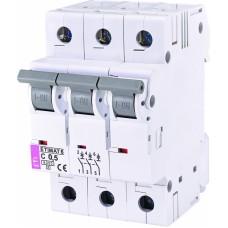 Автоматичний вимикач ETIMAT 6 3p C0,5, 2145501, ETI
