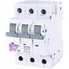 Автоматичний вимикач ETIMAT 6 3p C1,6, 2145507, ETI