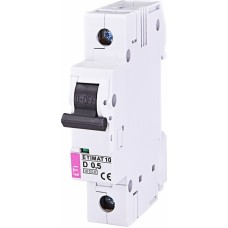 Автоматичний вимикач ETIMAT 10 1P D 0.5A 10kA 2151701