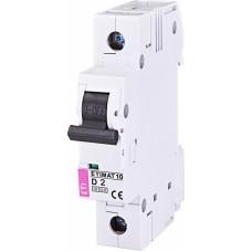 Автоматичний вимикач ETIMAT 10 1P D 2A 10kA 2151708
