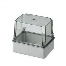 Box with high transparent cover, IP56 150x110x140 mm