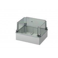 Box with high transparent cover, IP56 240x190x160 mm