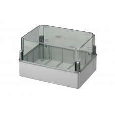Box with high transparent cover, IP56 300x220x180 mm