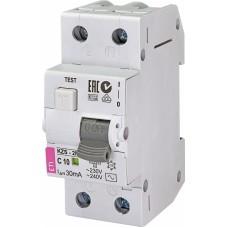 Диференційний автомат ETI KZS-2M 1P+N C 10A 10kA 30mA (тип AC) 2173122