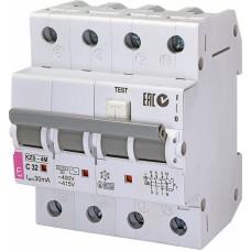 Диференційний автомат ETI KZS-4M 3p+N C 32A 10kA 30mA (тип AC) 2174027