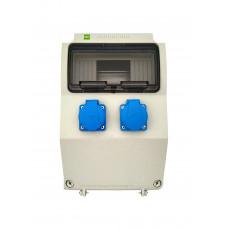 Щит з розетками 2xSchuko IP44 Elektro-Plast 6221-00 9 модулів