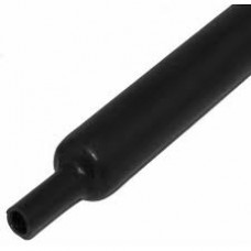 Shrink tube 1,2 / 0,6mm, wall thickness - 0,4mm, bay - 150m, color - black BM Group