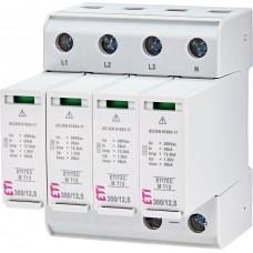 Обмежувач перенапруги ETITEC M T12 300/12,5 (4+0) 4p 2440509 ETI