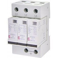 Обмежувач перенапруги ETITEC V T12 280/12,5 (3+0) 3p 2442905 ETI