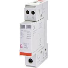 Обмежувач перенапруги ETITEC V 2T2 255/20 (2+0) 2p 2442940 ETI