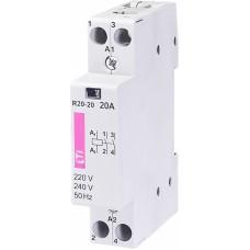 Контактор модульний ETI R-20-20 20А 230V AC 2NO (2461210)